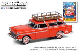 Chevrolet  - Nomad 1955 red - 1:64 - GreenLight - 54050A - gl54050A | Toms Modelautos