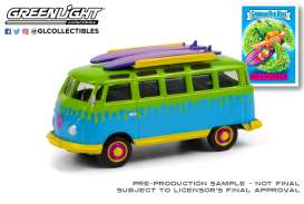 Volkswagen  - Samba bus 1964 green/blue/yellow - 1:64 - GreenLight - 54050B - gl54050B | Toms Modelautos
