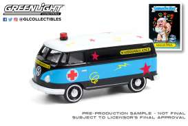 Volkswagen  - Panel Van 1965 black/blue - 1:64 - GreenLight - 54050C - gl54050C | Toms Modelautos