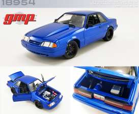 Ford Mustang - 5.0 LX 1990 blue - 1:18 - GMP - 18954 - gmp18954 | Toms Modelautos