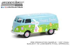Volkswagen  - Type 2 Panel 2021 green/blue - 1:64 - GreenLight - 30253 - gl30253 | Toms Modelautos