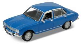 Peugeot  - 504 1975 blue - 1:34 - Welly - 42394 - welly42394b | Toms Modelautos