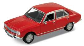 Peugeot  - 504 1975 red - 1:34 - Welly - 42394 - welly42394r | Toms Modelautos