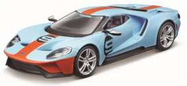Ford  - GT blue/orange - 1:32 - Bburago - 41164 - bura41164 | Toms Modelautos