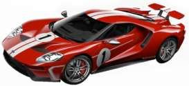 Ford  - GT red/white - 1:32 - Bburago - 41163 - bura41163 | Toms Modelautos