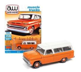 Chevrolet  - Suburan 1965 orange - 1:64 - Auto World - SP060B - AWSP060B | Toms Modelautos