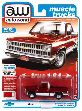 Chevrolet  - Silverado 1981 red - 1:64 - Auto World - SP062A - AWSP062A | Toms Modelautos