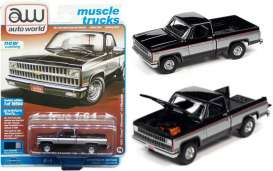 Chevrolet  - Silverado 1981 black - 1:64 - Auto World - SP062B - AWSP062B | Toms Modelautos