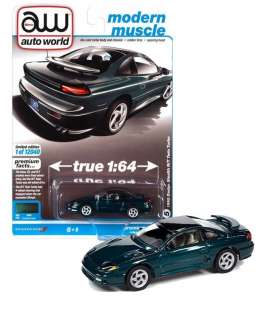 Dodge  - Stealth 1992 green - 1:64 - Auto World - SP063B - AWSP063B | Toms Modelautos