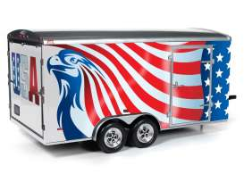 Trailer  - red/white/blue - 1:18 - Auto World - AMM1266 - AMM1266 | Toms Modelautos