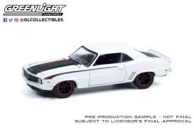 Chevrolet  - Camaro 1969 white - 1:64 - GreenLight - 39070A - gl39070A | Toms Modelautos