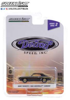 Chevrolet  - Camaro 1969 black - 1:64 - GreenLight - 39070B - gl39070B | Toms Modelautos