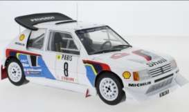 Peugeot  - 205 1986 white/blue/red/black - 1:18 - IXO Models - rmc049C - ixrmc049C | Toms Modelautos