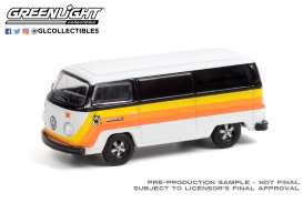 Volkswagen  - Type 2 1976 black/white - 1:64 - GreenLight - 36030B - gl36030B | Toms Modelautos
