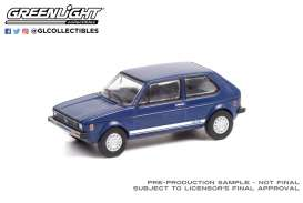 Volkswagen  - Rabbit 1979 blue - 1:64 - GreenLight - 36030C - gl36030C | Toms Modelautos