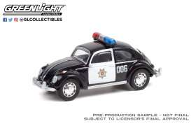 Volkswagen  - Beetle black/white - 1:64 - GreenLight - 36030E - gl36030E | Toms Modelautos