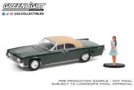 Lincoln  - Continental 1965 moss - 1:64 - GreenLight - 97110B - gl97110B | Toms Modelautos