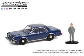 Plymouth  - Grand Fury 1986 navy blue - 1:64 - GreenLight - 97110D - gl97110D | Toms Modelautos