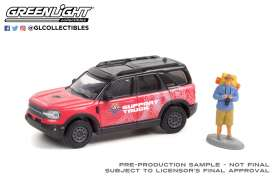 Ford  - Bronco 2021 red/pink - 1:64 - GreenLight - 97110F - gl97110F | Toms Modelautos