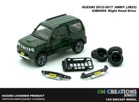 Suzuki  - Jimny K-Car JB23 1998 dark green - 1:64 - BM Creations - 64B0068 - BM64B0068 | Toms Modelautos