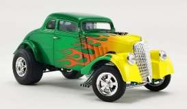Willys  - Gasser  1933 green/yellow - 1:18 - Acme Diecast - 1800917 - acme1800917 | Toms Modelautos