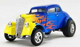 Willys  - Gasser  1933 blue/yellow - 1:18 - Acme Diecast - A1800918 - acme1800918 | Toms Modelautos