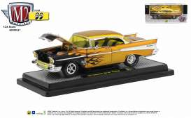 Chevrolet  - Bel Air 1957 gold/black - 1:24 - M2 Machines - 40300-81 - M2-40300-81A | Toms Modelautos