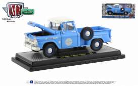 Chevrolet  - Apache 1957 blue - 1:24 - M2 Machines - 40300-81 - M2-40300-81B | Toms Modelautos