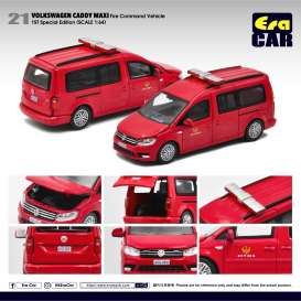 Volkswagen  - Caddy Maxi red - 1:64 - Era - VW20CamRF21 - EraVW20CamRF21 | Toms Modelautos