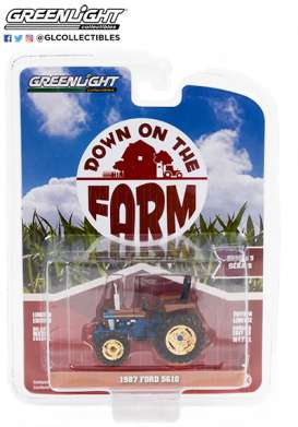 Tractor  - 1987 blue - 1:64 - GreenLight - 48050D - gl48050D | Toms Modelautos