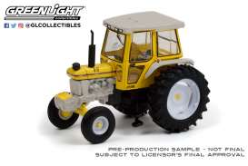 Tractor  - 1990 white/yellow - 1:64 - GreenLight - 48050E - gl48050E | Toms Modelautos