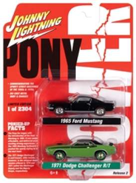 Assortment/ Mix  - black/green - 1:64 - Johnny Lightning - PK010 - JLPK010B | Toms Modelautos