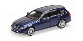 Mercedes Benz  - AMG C63 2018 blue - 1:87 - Minichamps - 870038111 - mc870038111 | Toms Modelautos