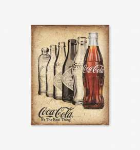 Tac Signs  - Coca-Cola beige/brown/rusty - Tac Signs - D2252 - tacD2252 | Toms Modelautos
