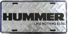Funny Plates  - Hummer silver/black - Tac Signs - HT2620 - fun2620 | Toms Modelautos