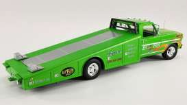 Ford  - F-350 Ramp Truck green/flames - 1:18 - Acme Diecast - 1801414 - acme1801414 | Toms Modelautos