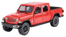Jeep  - Gladiator Overland hard top 2020 red - 1:27 - Motor Max - 79365 - mmax79365r | Toms Modelautos