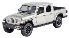 Jeep  - Gladiator Overland hard top 2020 silver - 1:27 - Motor Max - 79365 - mmax79365s | Toms Modelautos