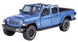 Jeep  - Gladiator Overland open top 2020 blue - 1:27 - Motor Max - 79367 - mmax79367b | Toms Modelautos