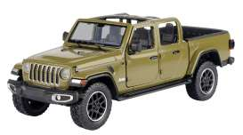Jeep  - Gladiator Overland open top 2020 khaki - 1:27 - Motor Max - 79367 - mmax79367k | Toms Modelautos