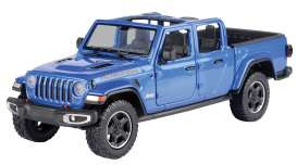 Jeep  - Gladiator Rubicon open top 2020 blue - 1:27 - Motor Max - 79370 - mmax79370b | Toms Modelautos