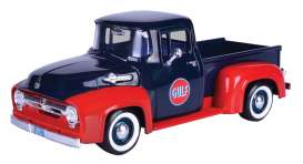 Ford  - F-100 pick-up 1956 dark blue/red - 1:24 - Motor Max - 79647 - mmax79647 | Toms Modelautos