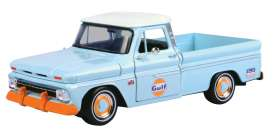 Chevrolet  - C10 Fleetside pick-up 1966 light blue/orange - 1:24 - Motor Max - 79648 - mmax79648 | Toms Modelautos