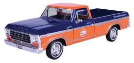 Ford  - F-150 Custom 1979 blue/orange - 1:24 - Motor Max - 79652 - mmax79652 | Toms Modelautos