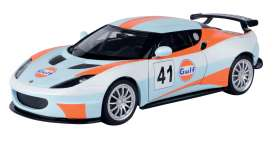 Lotus  - Evora GT4 #41 light blue/orange - 1:24 - Motor Max - 79660 - mmax79660 | Toms Modelautos
