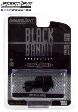 Nissan  - Patrol 1970 black - 1:64 - GreenLight - 28070B - gl28070B | Toms Modelautos