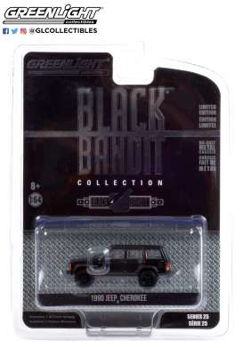 Jeep  - Cherokee 1990 black - 1:64 - GreenLight - 28070D - gl28070D | Toms Modelautos