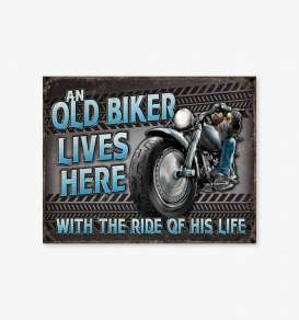 Tac Signs  - Motorcycle grey/blue - Tac Signs - D2236 - tacD2236 | Toms Modelautos