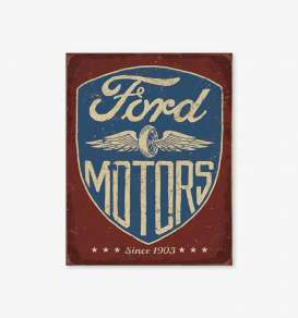 Tac Signs  - Ford brown/blue - Tac Signs - D2205 - tacD2205 | Toms Modelautos