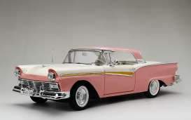 Ford  - Fairlane Skyliner 1957 pink/white - 1:18 - SunStar - 1344 - sun1344 | Toms Modelautos